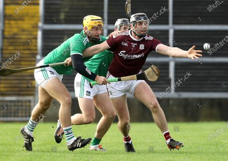 Limerick vs Galway. Limerick's Tom Morrissey and Aidan Harte of Galway