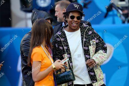 Entertainer Jay Z arrives for the NFL Super Bowl 54 football game between the San Francisco 49ers and the Kansas City Chiefs, in Miami