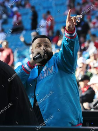 US singer DJ Khaled performs hours before the AFC Champion Kansas City Chiefs play the NFC Champion San Francisco 49ers in the National Football League's Super Bowl LIV at Hard Rock Stadium in Miami Gardens, Florida, USA, 02 February 2020.