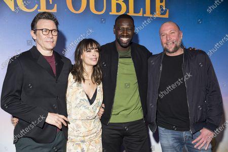 Michel Hazanavicius Berenice Bejo, Omar Sy and Francois Damiens