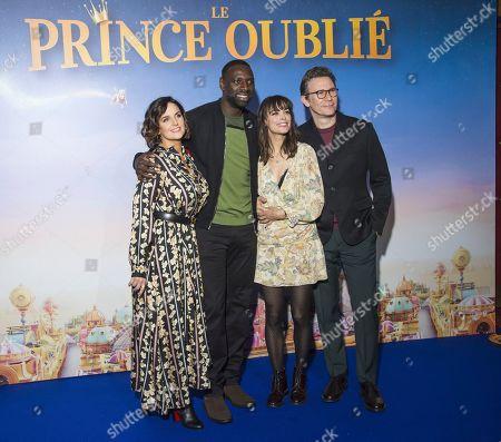 Helene Sy, Omar Sy, Berenice Bejo and Michel Hazanavicius