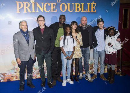 Howard Shore, Michel Hazanavicius, Omar Sy, Sarah Gaye, Berenice Bejo, Francois Damiens, Neotis Ronzon and Keyla Fala