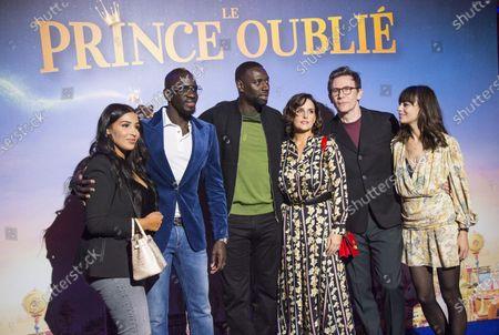 Mamadou Sakho, Majda Sakho, Omar Sy, Helene Sy, Michel Hazanavicius and Berenice Bejo