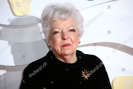 Thelma Schoonmaker poses for photographers upon arrival at the Bafta Film Awards, in central London