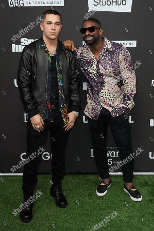 Stock Image of Austin Mahone and DJ Irie