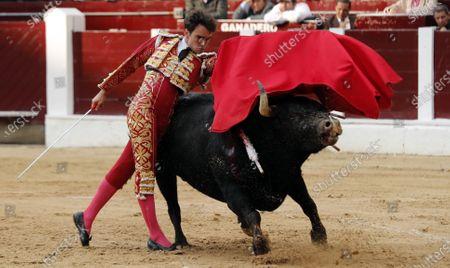 Colombian bullfighter Luis Miguel Castrillon in action at La Santamaria bullring in Bogota, Colombia, 02 February 2020.