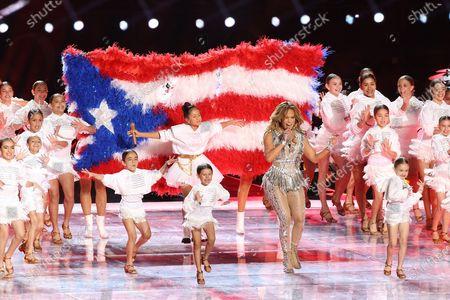Stock Picture of Jennifer Lopez and Emme Maribel Muniz