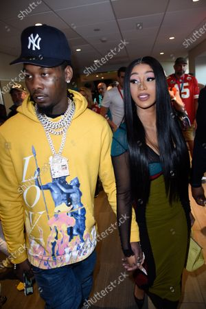 Stock Photo of Offset and Cardi B