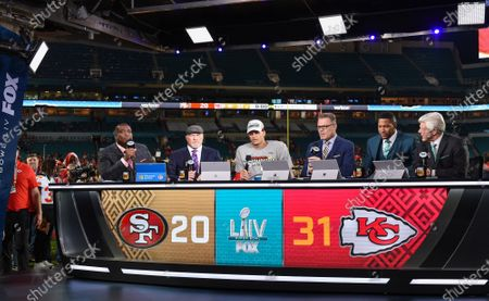 Editorial photo of Fox Sports coverage of Super Bowl LIV, American Football, Miami, Florida, USA  - 02 Feb 2020