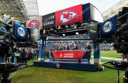 Editorial image of Fox Sports coverage of Super Bowl LIV, American Football, Miami, Florida, USA  - 02 Feb 2020