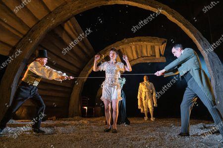 Barnaby Power,  Jodie McNee as Joanna Faustus, Danny Lee Wynter as Mephistopheles, Tim Samuels