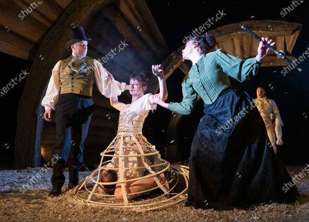 Barnaby Power,  Jodie McNee as Joanna Faustus, Danny Lee Wynter as Mephistopheles, Alicia Charles
