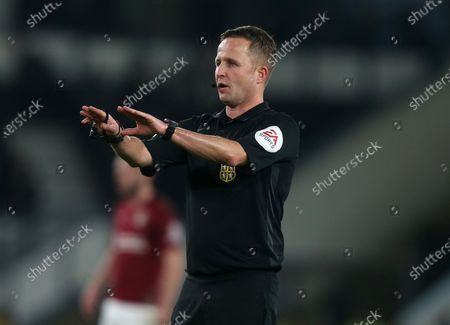 Referee David Webb