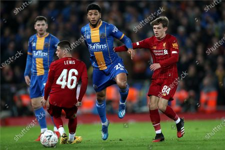 Editorial photo of Liverpool v Shrewsbury Town, Emirates FA Cup Fourth Round Replay, Football, Anfield, UK - 04 Feb 2020