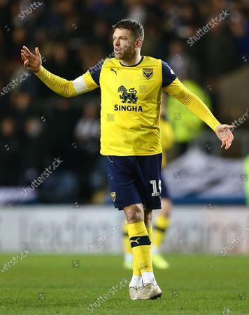 Jamie Mackie of Oxford United reacts