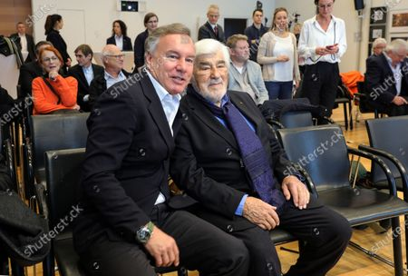 The Intendant of the Nibelungen festival, Nico Hofmann (L) and German actor and co-initiator of the Nibelungen festival, Mario Adorf (R) attend a press conference about the Nibelungen Festival program of 2020, in Berlin, Germany, 03 February 2020. The open air theatre festival takes place annually in the German city of Worms as part of the cultural summer of Rhineland-Palatinate state. This year's premiere will be 'Hildensaga. A Queen's Drama' by Ferndinand Schmalz.