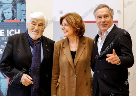 German actor and co-initiator of the Nibelungen festival, Mario Adorf, the Premier of Rhineland-Palatinate, Malu Dreyer, and the Intendant of the Nibelungen festival, Nico Hofmann, attend a press conference about the Nibelungen Festival program of 2020, in Berlin, Germany, 03 February 2020. The open air theatre festival takes place annually in the German city of Worms as part of the cultural summer of Rhineland-Palatinate state. This year's premiere will be 'Hildensaga. A Queen's Drama' by Ferndinand Schmalz.
