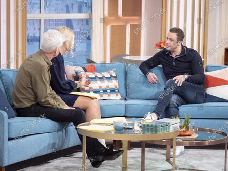 Phillip Schofield, Holly Willoughby with Jamie Lomas