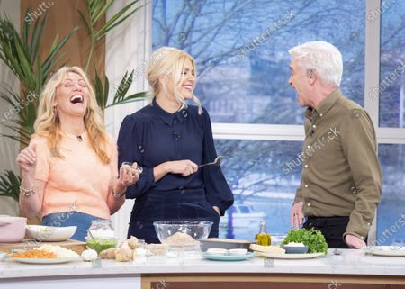 Stock Photo of Phillip Schofield and Holly Willoughby with Clodagh McKenna