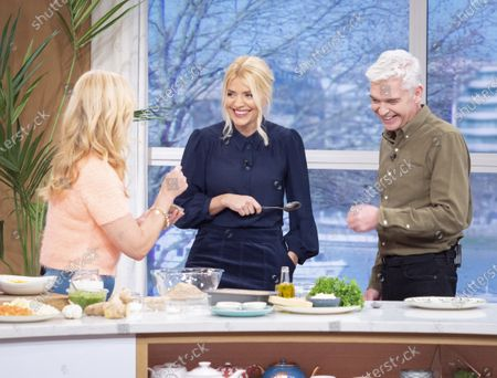 Stock Picture of Phillip Schofield and Holly Willoughby with Clodagh McKenna