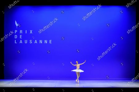 Stock Image of Bronte Barnett from Australia performs on stage on the first day of the 48th Prix de Lausanne at the 2m2c Montreux Music and Convention Centre, in Montreux, Switzerland, 03 February 2020. Launched in 1973, the Prix de Lausanne is an international dance competition for young dancers aged 15 to 18. Closing the six-day event, scholarships granting free tuition in a world-renowned dance school or dance company will be award to the best dancers out of 74 participants this year.