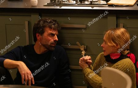Ep 8733 Monday 17th February 2020 Vanessa Woodfield, as played by Michelle Hardwick, is kept captive by Pierce, as played by Jonathan Wrather.