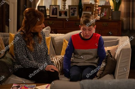 Ep 8724 Thursday 6th February 2020 - 1st Ep A sobbing Arthur Thomas, as played by Alfie Clarke, reveals to Laurel Thomas, as played by Charlotte Bellamy, he's been responsible for hurting Archie, leaving her shell-shocked will she tell others?