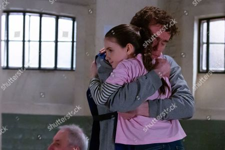 Ep 8728 Tuesday 11th February 2020 Marlon Dingle, as played by Mark Charnock, readies himself for a visit from April Windsor, as played by Amelia Flanagan. At home April says she is determined to be brave and on arriving at the prison later puts on a huge grin as Marlon joins them in the visitor's room. April's excited to tell Marlon about the campaign she and Mandy have been working on. At the end of the visit she reassures Marlon she'll get him out, and her determination inspires him.