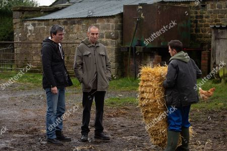 Ep 8728 Tuesday 11th February 2020 Matty Barton, as played by Ash Palmisciano, is worried he's not going to cope managing Butlers alone. Cain Dingle, as played by Jeff Hordley, is concerned knowing there's been talk of rustlers in the area and asks Sam Dingle, as played by James Hooton, to help Matty out. But Matty refuses the help and instead asks for Vinny's help.