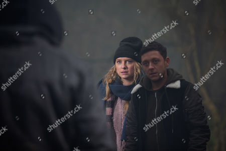 Ep 8729 Wednesday 12th February 2020 Matty Barton, as played by Ash Palmisciano, and Amy Wyatt, as played by Natalie Ann Jamieson, arrive back and notice some sheep have escaped. Amy suggests they ring Cain but Matty doesn't want to. After being approached by one of the Rustlers, Matty and Amy leg it, but they realise they're surrounded by a whole group of them. Moira Barton intervenes holding a loaded gun and she's not to be messed with..but will she save the day?