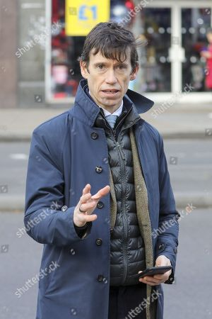 Rory Stewart mayoral candidate in Streatham High Road as Forensic officers investigate the area around Boots Chemists where a knife-wielding terror suspect in a suicide vest was shot dead after stabbing two people.