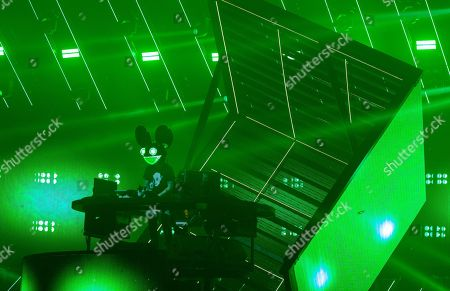 Editorial photo of Deadmau5 performing during the cube v3 tour at Navy Pier, Chicago, Illinois, USA - 01 Feb 2020