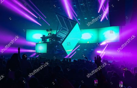 Editorial image of Deadmau5 performing during the cube v3 tour at Navy Pier, Chicago, Illinois, USA - 01 Feb 2020