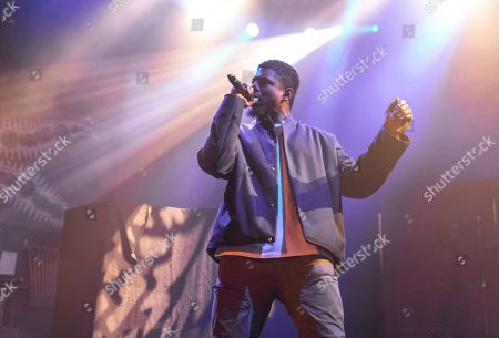Editorial photo of Mick Jenkins in concert during the Welcome to Mirrorland Tour at House of Blues, Chicago, Illinois, USA - 31 Jan 2020