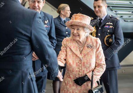 Editorial picture of Queen Elizabeth II visits RAF Marham, Norfolk, UK - 03 Feb 2020