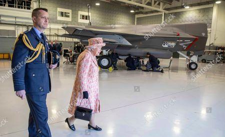 Editorial image of Queen Elizabeth II visits RAF Marham, Norfolk, UK - 03 Feb 2020