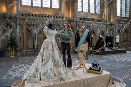 Editorial photo of 'Crowns & Gowns' exhibition at Ely cathedral, Cambridgeshire, UK - 30 Jan 2020