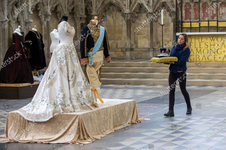 Editorial picture of 'Crowns & Gowns' exhibition at Ely cathedral, Cambridgeshire, UK - 30 Jan 2020