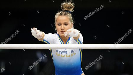 Stock Picture of UCLA's Madison Kocian during an NCAA gymnastics meet on in Los Angeles