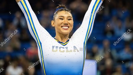 Stock Image of UCLA's Kyla Ross during an NCAA gymnastics meet on in Los Angeles