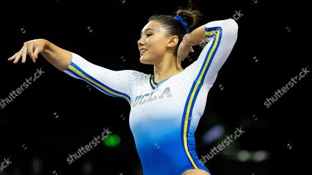 Stock Photo of UCLA's Kyla Ross during an NCAA gymnastics meet on in Los Angeles