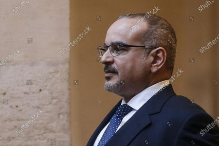 Bahrain's Crown Prince Salman bin King Hamad bin Isa Al Khalifa during his meeting with Italian Prime Minister Conte at Chigi Palace in Rome, Italy, 03 February 2020.