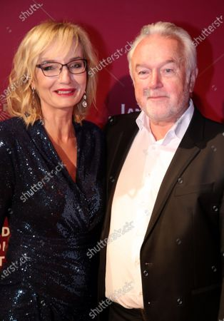 German politician Wolfgang Kubicki and his wife Annette Marberth-Kubicki attend the Lambertz Monday Night at Alter Wartesaal in Cologne, Germany, 03 February 2020.