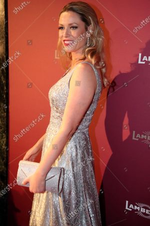 British/American actress and granddaughter of the filmmaker Charlie Chaplin, Kiera Chaplin, attends the Lambertz Monday Night at Alter Wartesaal in Cologne, Germany, 03 February 2020.