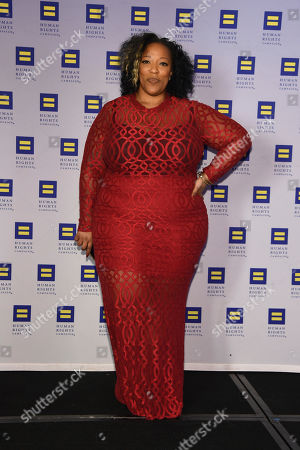 Singer Frenchie Davis appears at the 19th Annual Human Rights Campaign Greater New York Gala on in New York