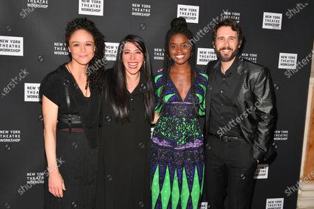 Amber Gray, Rachel Chavkin, Denee Benton, and Josh Groban