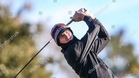 Texas A&M golfer Brandon Smith tees off on the first hole during the first round of an NCAA golf tournament on in Ponte Vedra, Fla