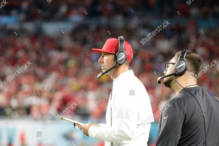 San Francisco 49ers head coach Mike Shanahan is seen on the sidelines against the Kansas City Chiefs at Super Bowl 54, in Miami Gardens, Fla. The Chiefs won the game 31-20