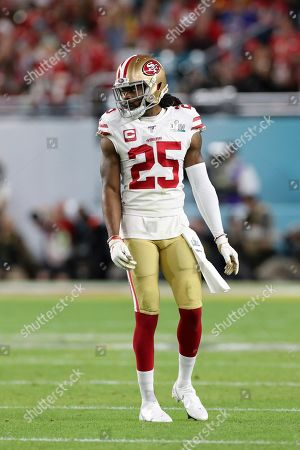 San Francisco 49ers cornerback Richard Sherman (25) is seen against the Kansas City Chiefs at Super Bowl 54, in Miami Gardens, Fla. The Chiefs won the game 31-20