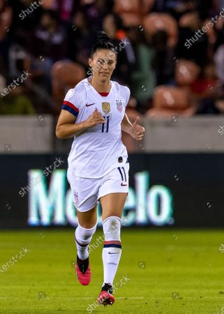 United States defender Ali Krieger (11) on the pitch in the second half during the CONCACAF Group A Women's Olympic Qualifying match against the Costa Rica at BBVA Stadium in Houston, Texas
